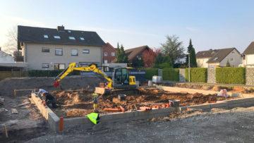 Baubeginn am Ziethenweg in Schloß Neuhaus
